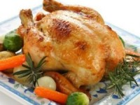 Курица, фаршированная шампиньонами