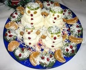 Новогодние снеговики на десерт - новогодние рецепты