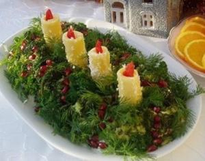 Новогодний салат «Адвент» - новогодние рецепты