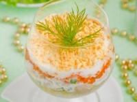 Новогодний салат - коктейль