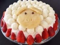 Новогодний торт «Овечка» с «Рафаэлло» - новогодние рецепты