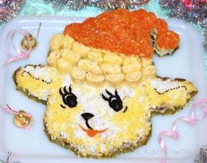 """Очень вкусный салат """"Новогодняя овечка"""" - новогодние рецепты"""