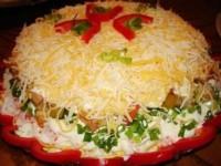 Салат Праздник - новогодние рецепты