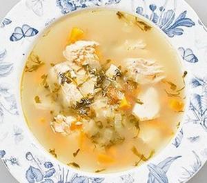 Суп из красной рыбы с яблоками