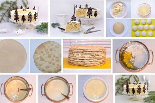 Торт Нежный Наполеон - новогодние рецепты