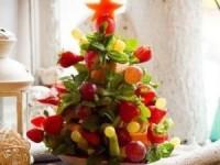 Фруктовая ёлка - новогодние рецепты