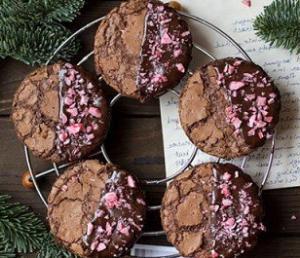 Шоколадное печенье для Нового года - новогодние рецепты