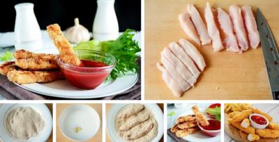 Рецепт хрустящих куриных «Пальчиков»