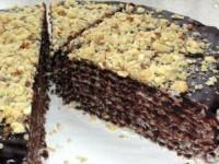 Вафельный торт в глазури