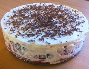 Вишневый торт с кремом из сыра маскапоне