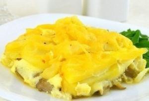 Вкуснейшая запеканка из картофеля, грибов и двух видов сыра