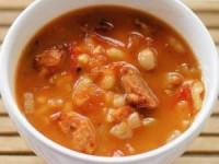 Итальянский суп с сосисками