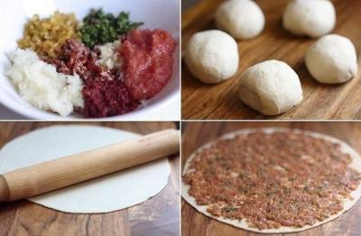 Лахмаджун — лепешка с мясом