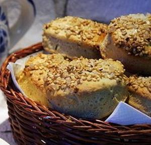 Ржаные сконы - английские булочки к чаю