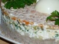 Салат с печенью