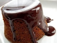 Сливочные кексы в шоколадной глазури