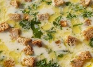 Суп с вермишелью и сыром