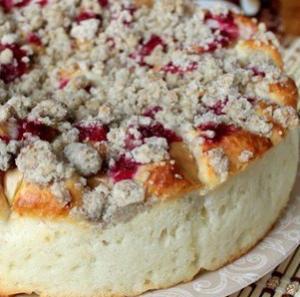 Творожный пирог с вишней рецепт с фото