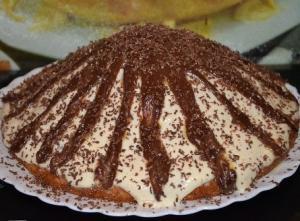"""Торт """"Панчо"""" с ананасами и бананами"""