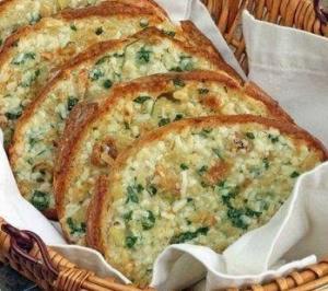 Хрустящий хлеб с чесноком