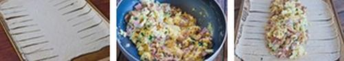 Яичница-болтунья в слоеном тесте к завтраку