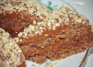 5-минутный ореховый торт без муки и масла