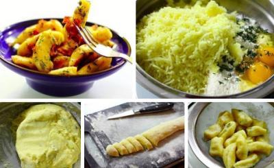 Картофельные клецки с травами