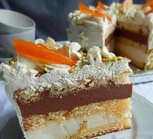 Бисквитный торт с апельсинами