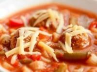 Итальянский суп с фрикадельками