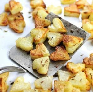Картофельные сердечки ко Дню Святого Валентина