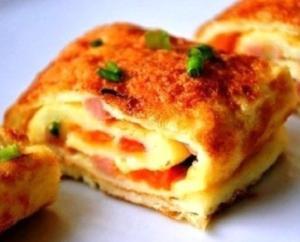 Омлет с ветчиной и сыром