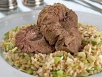 Отварная говядина с рисовым гарниром