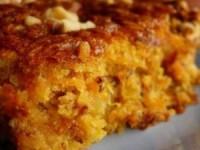 Постный кекс с цитрусовыми, морковью и яблоком