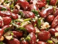 Постный салат из красной фасоли