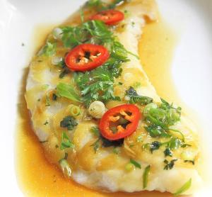Рыба на пару — по китайски