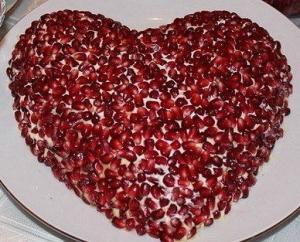 "Салат ""Гранатовое сердце"""