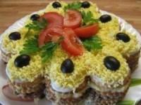 Салат - торт из крекеров