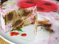 Торт-желе с эклерами