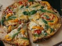 Вегетарианская пицца с баклажанами