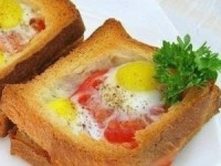 Горячие бутерброды с яйцом на завтрак