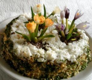 Салат весенние цветы