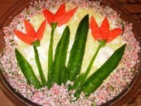 Салат на 8 Марта «Тюльпаны»