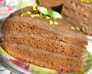 """Бисквитный торт на сгущенке """"Нежность"""""""