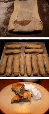 Вкусные пирожки из тонкого теста