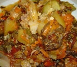 Овощное рагу с бараниной