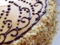 Шоколадный торт со сливочным кремом со сгущёнкой