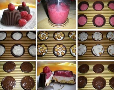 Шоколадные корзинки с клубникой и сливками