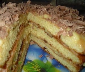 """Тортик """"Пышный"""" из творога"""