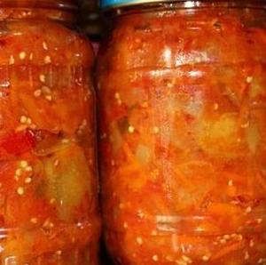 Лечо (кабачки + баклажаны) на зиму