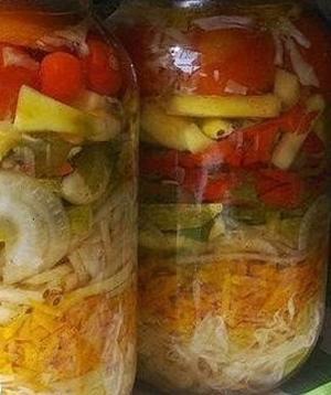 Салат на зиму овощной